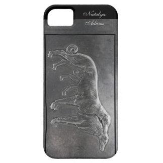Caso ruso de plata del iphone 5 de los wolfhounds funda para iPhone SE/5/5s