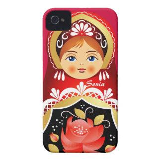 Caso ruso del iPhone de la muñeca de Babushka iPhone 4 Case-Mate Cárcasa