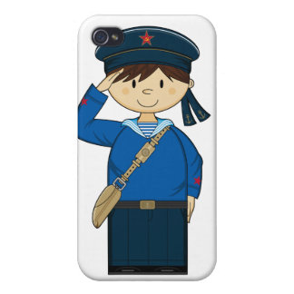 Caso ruso del iphone del marinero WW2 iPhone 4 Cobertura
