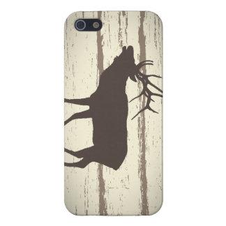 Caso rústico de Iphone de los alces del país iPhone 5 Cárcasa