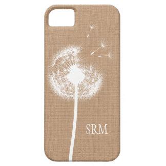 Caso rústico del iPhone 5 de la arpillera iPhone 5 Case-Mate Carcasas