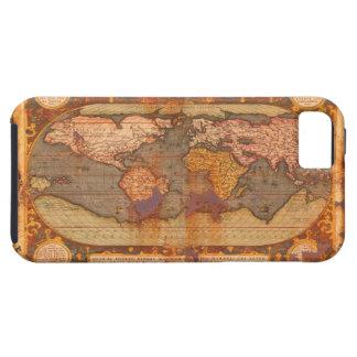 Caso rústico del iPhone 5 del mapa del mundo del Funda Para iPhone SE/5/5s
