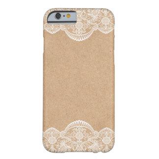 Caso rústico del iPhone 6 de la novia de Kraft que Funda Para iPhone 6 Barely There