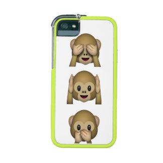 Caso sabio 5 5S del iPhone de tres monos del emoji