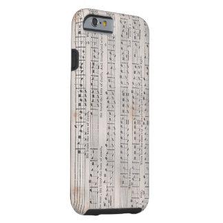 Caso sagrado del iPhone de la música de la arpa Funda Resistente iPhone 6