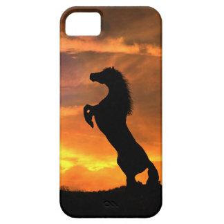 Caso salvaje de Iphone del caballo que se alza Funda Para iPhone SE/5/5s