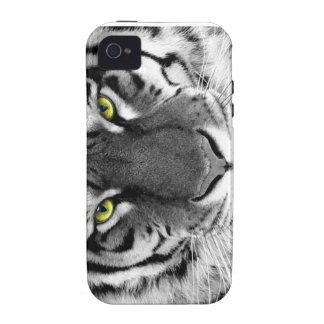 Caso salvaje de IPhone del tigre blanco iPhone 4 Funda