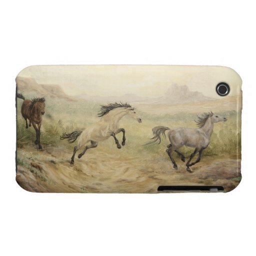 Caso salvaje del iPhone 3G/3GS del mustango iPhone 3 Case-Mate Protectores