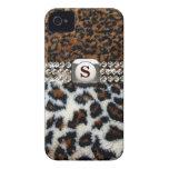 Caso salvaje del iPhone 4 de la piel del leopardo Case-Mate iPhone 4 Cárcasa