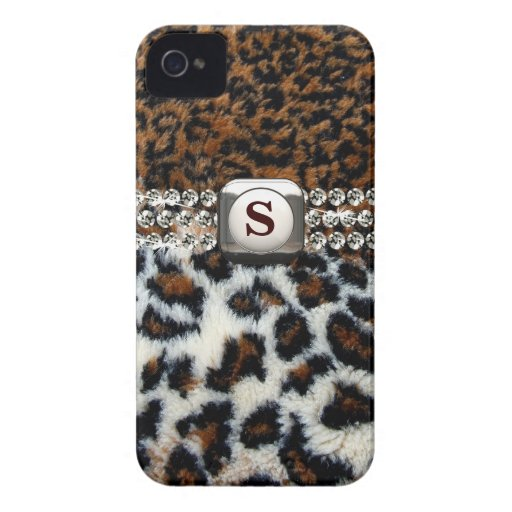 Caso salvaje del iPhone 4 de la piel del leopardo Case-Mate iPhone 4 Cárcasa