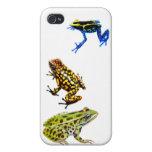 Caso salvaje del iPhone 4 de las ranas iPhone 4 Cárcasas