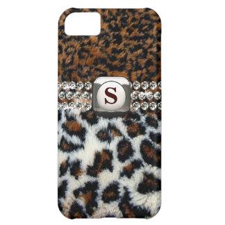 Caso salvaje del iPhone 5 de la piel del leopardo Funda Para iPhone 5C