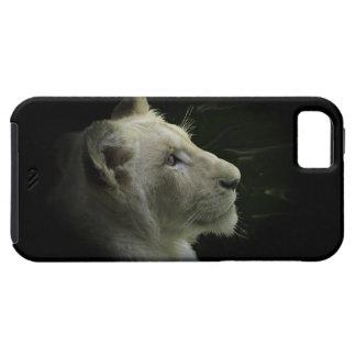 Caso salvaje del iPhone del León-Amante del gato Funda Para iPhone SE/5/5s