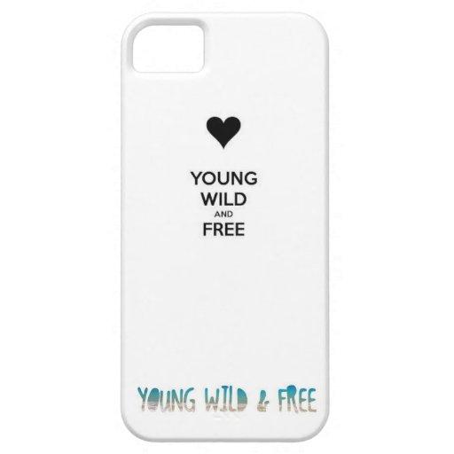 caso salvaje y libre joven del iphone iPhone 5 Case-Mate fundas