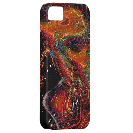 Caso Salvaje-y-Loco del iPhone del diseño del arte iPhone 5 Fundas