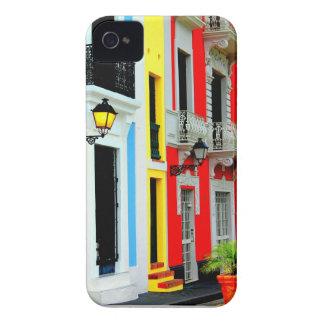 Caso San Juan viejo colorido Puerto Rico de IPHONE iPhone 4 Case-Mate Protectores
