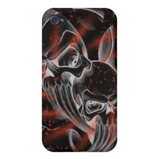 Caso sangriento del skullz de la salpicadura iPhone 4 protectores