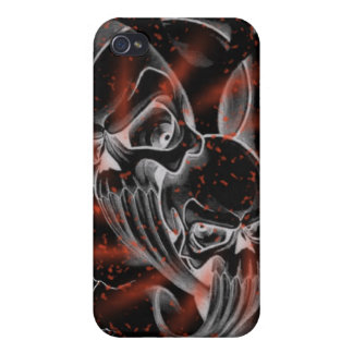 Caso sangriento del skullz de la salpicadura iPhone 4/4S fundas