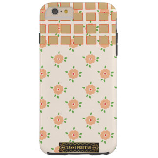 Caso sellado con las flores y ajustado funda de iPhone 6 plus tough