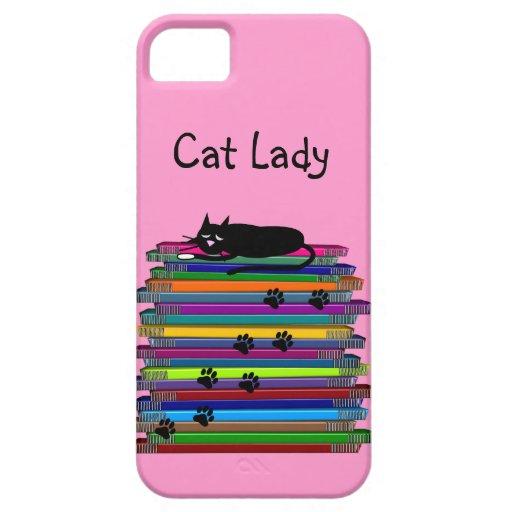 """Caso """"señora del iPhone 5 de los amantes del gato  iPhone 5 Protectores"""