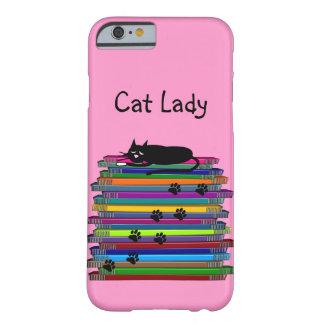 """Caso """"señora del iPhone 6 de los amantes del gato Funda De iPhone 6 Barely There"""