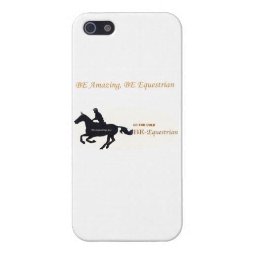 Caso Ser-Ecuestre de Iphone 5 iPhone 5 Funda