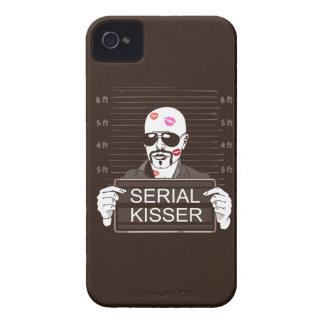 Caso serial del iPhone 4 del Kisser Case-Mate iPhone 4 Protectores