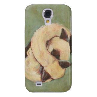 caso siamés del iphone del gatito de yang del yin funda para galaxy s4