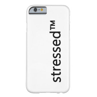 caso simple del iPhone del stressed™ Funda Barely There iPhone 6