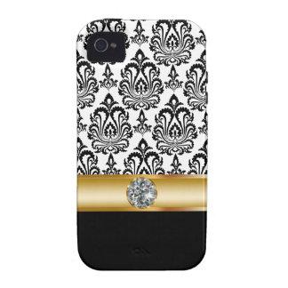 caso simulado de Bling de la joya del iPhone 4 Vibe iPhone 4 Carcasas