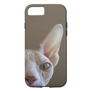 Caso sin pelo del iPhone 7 del gato de Sphynx Funda iPhone 7