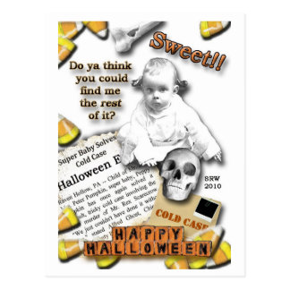 Caso sin resolver Halloween Postal