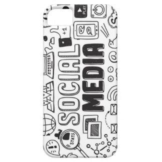 Caso social de los medios iphone6 funda para iPhone SE/5/5s