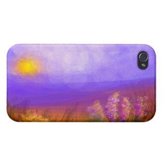 Caso soñador del iPhone de Chaparrel del paisaje b iPhone 4 Carcasas
