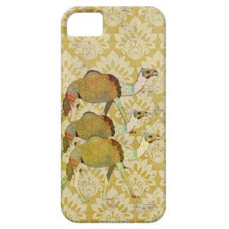 Caso soñador del iPhone del damasco del oro del ca iPhone 5 Case-Mate Carcasas