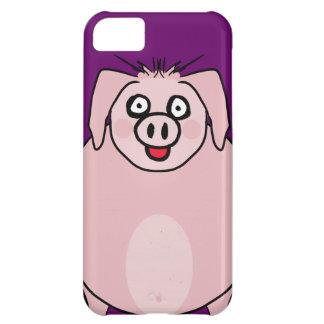 Caso sonriente del cerdo funda para iPhone 5C