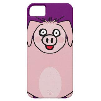 Caso sonriente del cerdo funda para iPhone SE/5/5s