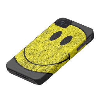 Caso sonriente del iPhone 4 de la cara del vintage iPhone 4 Case-Mate Carcasa