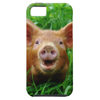 Caso sonriente del iphone del cochinillo iPhone 5 Case-Mate cárcasa