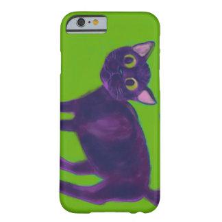 Caso Spooked del iPhone 6 del gato Funda De iPhone 6 Barely There