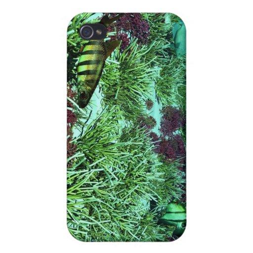 caso subacuático del iphone 4 de la escena 3d iPhone 4 fundas