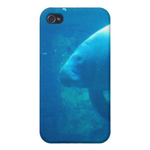 Caso subacuático del iPhone 4 del Manatee iPhone 4/4S Carcasas