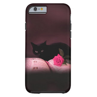 caso subió libro romántico del iPhone 6 del gato Funda Para iPhone 6 Tough