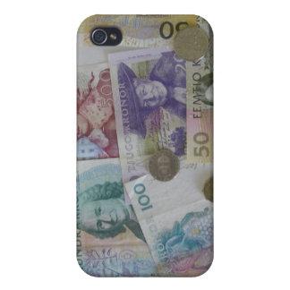 Caso sueco del iPhone 4Speck de la corona del dine iPhone 4 Protectores