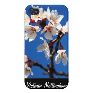Caso supremo del iPhone 4 de la mota de las flores iPhone 4 Cárcasa