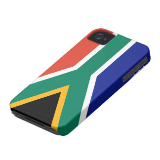 Caso surafricano del iPhone 4 de la bandera iPhone 4 Case-Mate Cárcasa