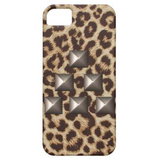 Caso tachonado triángulo del guepardo iPhone 5 Case-Mate funda