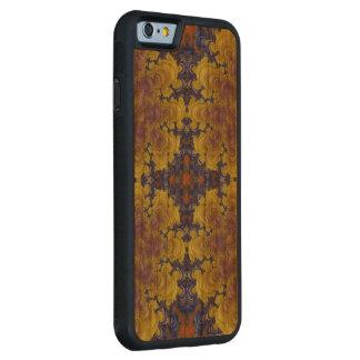 Caso tallado madera hermosa loca del extracto funda de iPhone 6 bumper cerezo