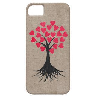 Caso temático del iPhone 5 del árbol del corazón iPhone 5 Case-Mate Cárcasas