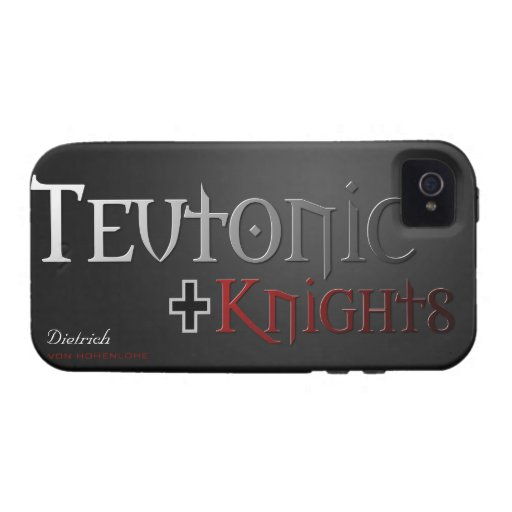 Caso teutónico de los caballeros con su nombre Case-Mate iPhone 4 fundas